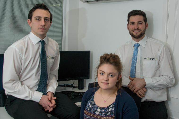 Resolution IT development scheme recruits three trainee staff
